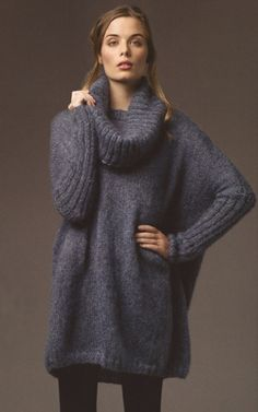 Rowan Kidsilk Haze Trio Gypsy Pullover. Cowl is a separate piece. Sweater comfort that doesn't nix chic.