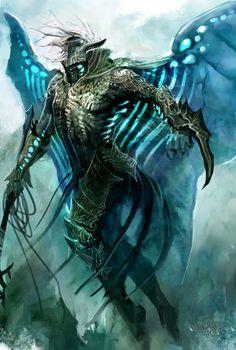 kekai kotaki - aerann: kekai-k: Guild Wars 2 Largos. Fantasy Monster, Monster Art, Fantasy Creatures, Mythical Creatures, Character Concept, Character Art, Angel Demon, Alien Concept Art, Guild Wars 2