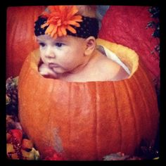 Holiday pumpkin baby