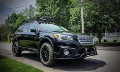Make: Subaru Model: Outback 3.6R groupe Tourisme Year: 2016 Color: Black Modifications: Tires: 245/65R17 BFGoodrich All Terrain T/A KO2 Wheels:  Motegi Racing MR118 Lift kit: 2