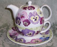 Pansy Tea for One by Roy Kirkham