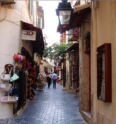 Narrow street - Rethymno, Crete Island