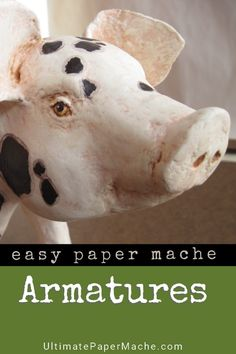 Create realistic animal sculptures with patterns inside your armature. Make your… Create realistic animal sculptures with patterns inside your armature. Making Paper Mache, Paper Mache Clay, Paper Mache Sculpture, Armature Sculpture, Sculpture Ideas, Paper Mache Projects, Paper Mache Crafts, Clay Crafts, Art Projects