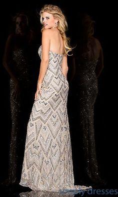 Dresses, Formal, Prom Dresses, Evening Wear: Long Strapless Sweetheart Sequin Scala Dress