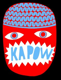 KAPOW by David Shilinglaw LIMITED EDITION PRINT! EDITION OF 75, ONLY 16 LEFT! Three colour screen print on 310gsm paper Size: 59.5x42 #art #kapow #davidshillinglaw #modernart #contemporaryart #londonart #screameditions #coolart