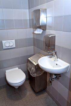 Image On Fully Tiled Single Public Restroom With Wall Mounted Amenities WarehouseBathroom IdeasPublic