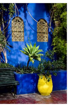 Morrocan blue courtyard garden                                                                                                                                                                                 More