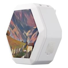 modern dadaismdigitalpaintingcolorfulnorwayn white bluetooth speaker - modern gifts cyo gift ideas personalize