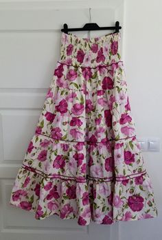 Vlčí máky fialové - sukně dlouhá   Zboží prodejce Šaty-Šatičky  823a524ebb