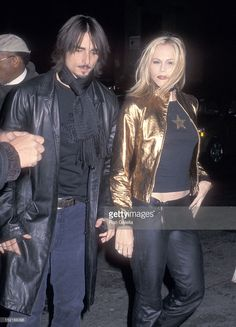Singer Kevin Richardson of the Backstreet Boys and wife Kristin attend the Release Party for the Backstreet Boys' New Album 'Black & Blue' on November 21, 2000 at Eugene in New York City.