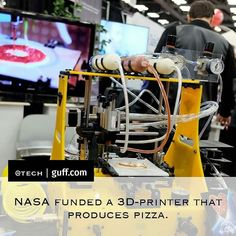 """@Regrann from @tech -  If there is one thing keeping us from visiting outer space its definitely the lack of pizza. Luckily that will not be an issue for much longer. NASA recently invested in 3D-printed food and theyre first test product was pizza. The prototype printer developed by Anjan Contractor can successfully produce pizza from scratch. With this technology astronauts could potentially explore deeper parts of space and enjoy a slice of pizza while theyre at it. """"Long distance space…"""