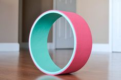 12 Yoga Wheel-Teal&Pink by AReedYogaWheelsLLC on Etsy