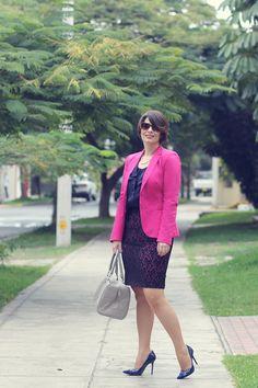 Divina Ejecutiva: Mis Looks - Fresa & Azul