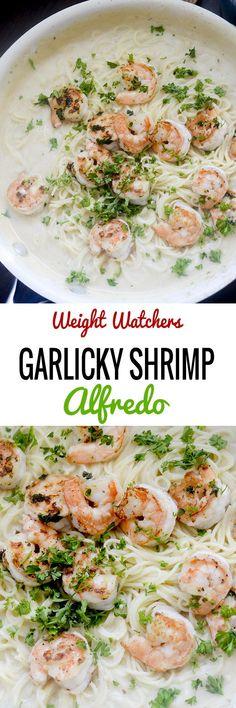 Garlicky Shrimp Alfredo - Recipe Diaries