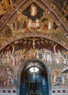 Santa Maria Novella - Church and Cloisters - Florence. Испанская часовня. Фрески Андреа да Bonaiuto - 1368 Распятие.