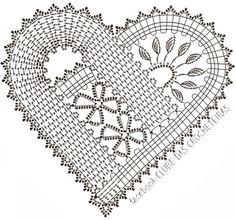 schema na hackovane srdiecko flanderska cipka bruges lace crochet heart Débardeurs Au Crochet, Crochet Motifs, Freeform Crochet, Crochet Chart, Crochet Squares, Thread Crochet, Irish Crochet, Crochet Stitches, Crochet Patterns