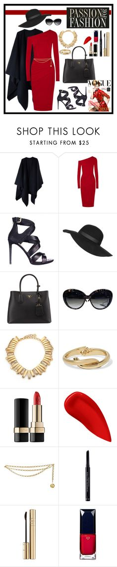 """""""Passion for FASHION"""" by the-scarpetta ❤ liked on Polyvore featuring Acne Studios, Donna Karan, GUESS, Topshop, Prada, Louis Vuitton, Oscar de la Renta, Kenneth Jay Lane, Dolce&Gabbana and Lipstick Queen"""