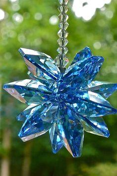 Blue Crystal Suncatcher