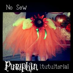 Growing Up Gardner: No Sew Pumpkin {tutu}torial
