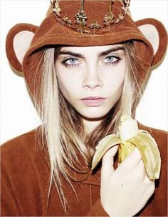 Cara Delevingne who manages to look better than me while in a monkey suit
