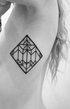 Geometric Tattoos; this would look really neat with color like a stained glass window. But it's still pretty black and white