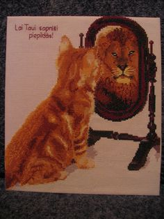 From Kitty to Lion crosstitch