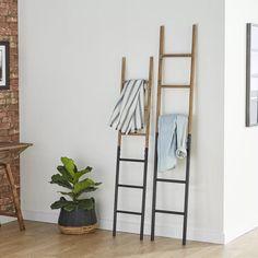 Wood Ladder, Ladder Decor, Diy Ladder, Bathroom Ladder, Bathroom Rack, Bathroom Towels, Bath Towels, Hanging Racks, Ladder Racks