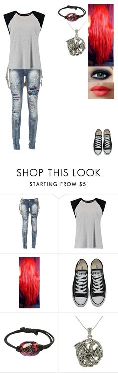 """""""Untitled #830"""" by the-ringmaster ❤ liked on Polyvore featuring Boohoo, Converse, Carolina Glamour Collection, Max Factor, LORAC, women's clothing, women, female, woman and misses"""