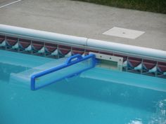 Skim-eeze - Allows you to effortlessly skim your pool.  Skim-eeze collects floating debris such as leaves, grass, acorns, small sticks and insects, and even pollen. Installs in seconds, no hardware required.  Skim-eeze is ideal for most above-ground or in-ground pools.  The BEST pool accessory I have ever bought!