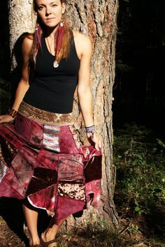 Shades of Red, patchwork skirt