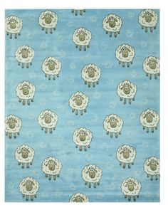 Hand-Tufted Blue Kids Area Rug