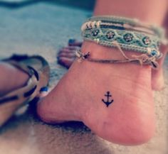 I LOVE these anchor tattoos, they really can mean anything to anyone! The small ones in secret places are really great!