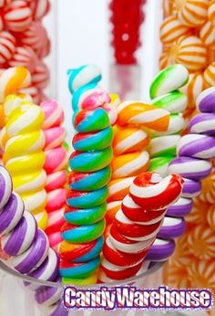 These twist pops look really great in our rainbow candy buffet, but maybe you'd like them in a solid color?  Maybe you'd like them over three times longer?  We've got that! Check out the full selection here: http://www.candywarehouse.com/search/?keyword=tesla%20pops