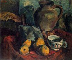 Pere Daura - Naturaleza Muerta-1928. Oleo sobre tela. 46,5 x 54 cm.-Ciudad de la pintura - La mayor pinacoteca virtual