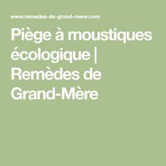 Piège à moustiques écologique | Remèdes de Grand-Mère