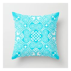 Decographic Throw Pillow featuring polyvore, home, home decor, throw pillows, pop art and patterned throw pillows