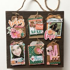 Capture the Love Wood Plank by Kristine Davidson featuring Jillibean Soup Mix the Media and Bowl of Dreams.