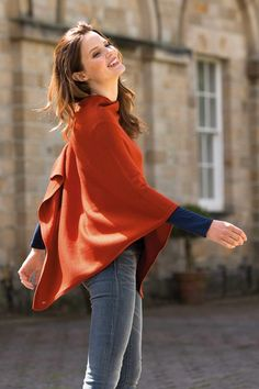 Merino City Poncho from Kettlewell available in 11 colours £69
