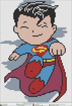 Super Nene EN PUNTO DE CRUZ. Cross stitch pattern