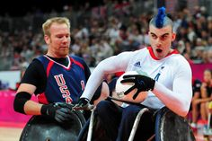 USA attempts a steal against GB - London Paralympic Games
