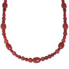 Sterling Silver Red Multi Gemstone Necklace 36 Inch *** Check out the image by visiting the link.