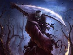 Online digital art gallery of best pictures and photos from portfolios of digital artists. Manually processing and aggregation artworks into the thematic digital art galleries. Grim Reaper Art, Don't Fear The Reaper, Dark Fantasy Art, Dark Art, My Demons, Angels And Demons, Dark Angels, Pale Horse, Skull Art
