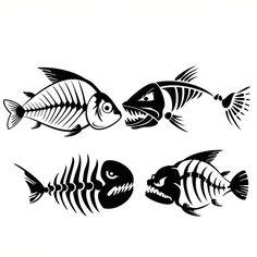 Skeleton Drawings, Fish Skeleton, Intarsia Wood, Metal Fish, Cutting Tables, Fish Design, Silhouette Cameo Projects, Pen Art, Fish Art