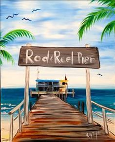 Rod and Reel - Sarasota, FL Painting Class - Painting with a Twist