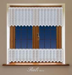 Puntíky, bílá záclona výška 35cm metráž - RALI Decor, s.r.o. - bytový textil, záclony a povlečení