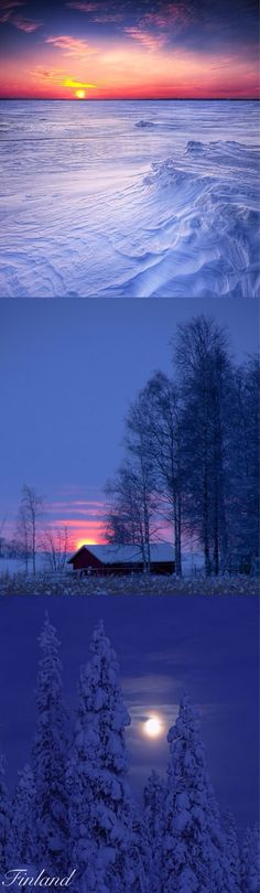 Finland Helsinki, Beautiful World, Beautiful Places, I Love Winter, Amazing Sunsets, Beautiful Sunrise, Winter Beauty, Winter Scenes, Montenegro