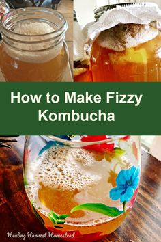 How to Make Kombucha Fizzy (the Second Ferment): Plus a Kombucha Recipe for Delicious Pineapple & Clove Kombucha — Home Healing Harvest Homestead Healthy Juices, Healthy Drinks, Fermentation Recipes, Homebrew Recipes, Real Food Recipes, Healthy Recipes, Healthy Foods, Kombucha Recipe, Kombucha How To Make
