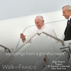 Where does joy come from? #WalkwithFrancis