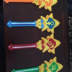 Sailor Scout wand bundle Made from perler beads Other