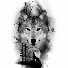 sketches for men Wolf Pack Legend Wolf Tattoo Design, Tattoo Designs, Tattoo Ideas, Wolf Design, Wolf Tattoos Men, Love Tattoos, Wolf Tattoo Girls, Tattoos Of Wolves, Circle Tattoos